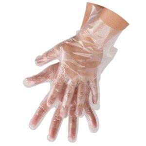 Rękawiczki foliowe jednorazowe