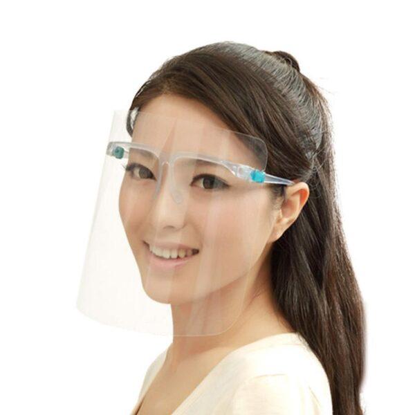 przezroczysta przyłbica ochronna osłona na twarz okularowa do użytku codziennego